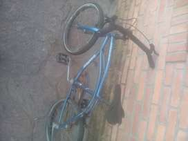 Bicicleta azul infantil