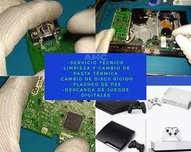 Limpieza + cambio de pasta térmica PS3 y 4/ Xbox 360 y One