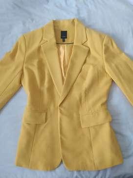 Chaqueta blazer amarilla STUDIO F