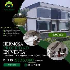 Hermosa propiedad en Venta