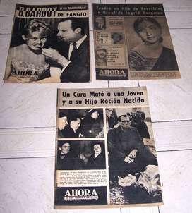LOTE DE REVISTA AHORA AÑO 1958 TRES EJEMPLARES