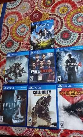 Juegos de PS4 (En cajita y en formato papel)
