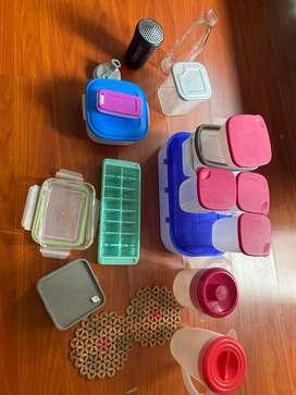 Recipientes para alimentos, cubeta de hielo, shaker y protectores para ollas calientes