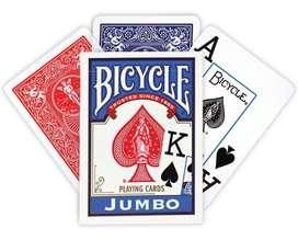 Cartas Original Bicycle Rider Back Jumbo. Envia Banimported (1 unidad)