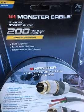 Cable video de alta definicion monster 200 sv - contactos en oro - americano