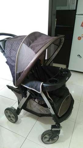 Ganga - Coche Graco Travel System con Silla para auto - más cargador para bebe nuevo