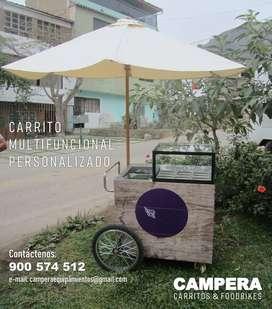 FABRICAMOS CARRITOS PERSONALIZADOS GOURMET - CAMPERA PRO