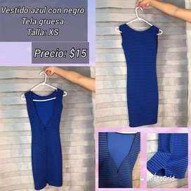 Vestido Xs azul