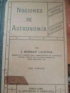 LIBRO NOCIONES DE ASTRONOMIA 1924