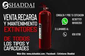 SHADDAI / Venta y Recarga de Extintores / Luces de Emergencia / Señales de Seguridad / Detectores de humo / y otros arti