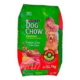Dog Chow Adultos 22.7 Kg Razas Medianas Y Grandes