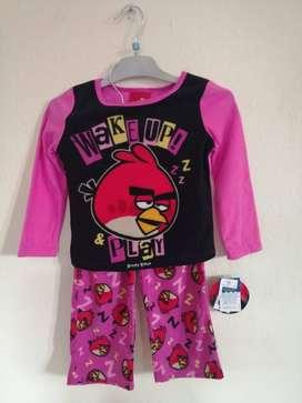 Pijama Para Niña Marca Marketin Angry Birds Americana
