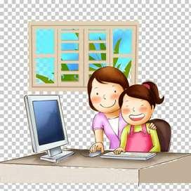 Clases de Computación Básica  en su hogar, dirigido a niños o adultos . 10 dólares la hora .