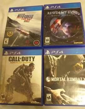 Juegos originales PS4 - $14.99
