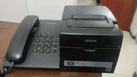 Impresora térmica citizen y teléfono Panasonic