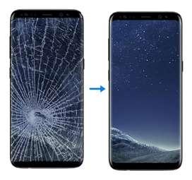 Cambio de glass Samsung S6 S7 Edge S8 S9 S10 Plus Note 8 9 10