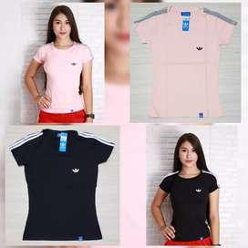 Camisetas Tela Fria Dama Talla L