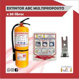 EXTINTOR ABC MULTIPROPOSITO X 30 LB