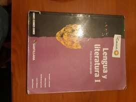 libro secundario lengua y literatura  1 {conocer} editorial santillana