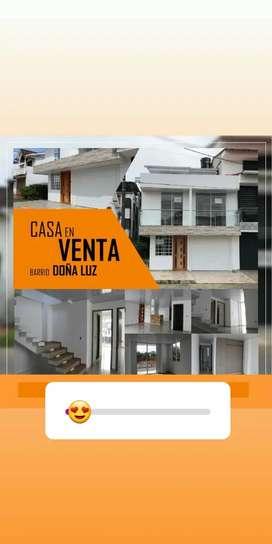 Se vende casa esquinera nueva en barrio Doña Luz Villavicencio