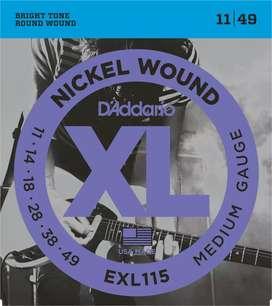 D'Addario EXL 115 Cuerdas Guitarra Electrica .11 - .49