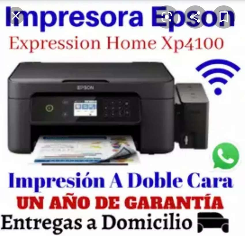 Impresora Nueva Epson Xp4100 multifuncion con sistema continuo