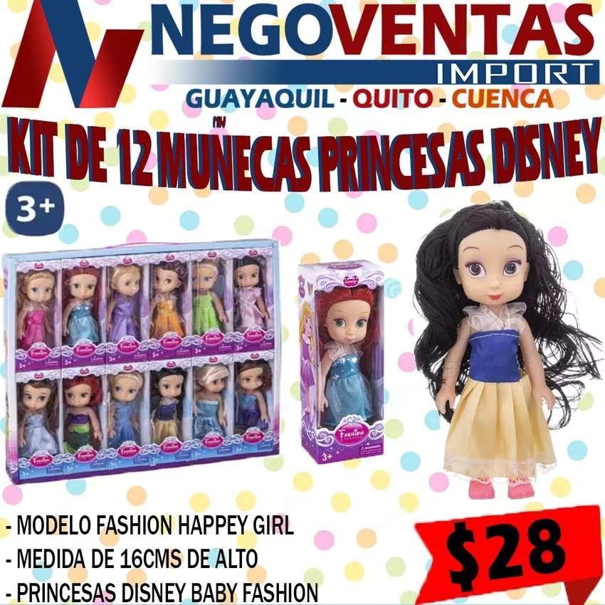 KIT DE 12 MUÑECAS PRINCESA DISNEY 0