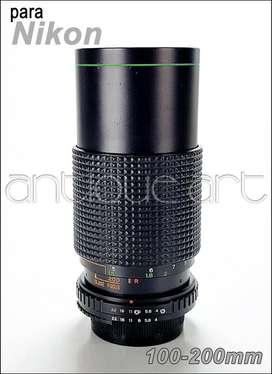 A64 Lente Para Nikon 100-200mm 1:4 Foto Video Manual Detalle