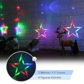Luces cortinas para navidad