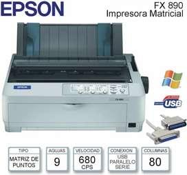 Impresora epson fx 890 matricial