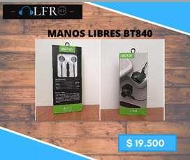 Manos libres - Control de volumen - 1.2 m/ Color negro