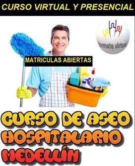 Curso Presencial de Aseo Hospitalario Limpieza y Desinfección