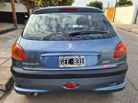 Peugeot 206 xline con gnc de quinta generacion impecable