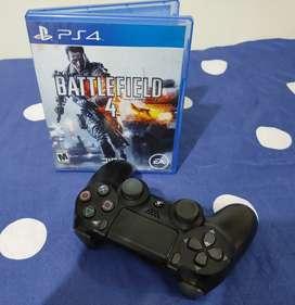 Vendo cambio control de ps4 2da generación y juego ps4 battlefield4