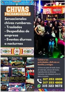 Chivas Rumberas, realiza tus actividades en grupo de estudio, trabajo o familiar, en la ciudad o municipios aledaños