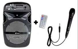 CABINA 6.5 batería recargable KORBIX microfono y luz LED
