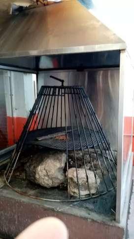 Equipos para asadero restaurante.