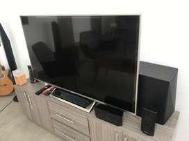 """Combo TV 55"""" y teatro en casa"""