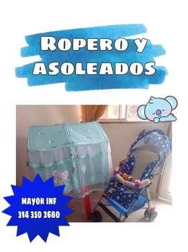 DUO DE ASOLEADOR Y ROPERO
