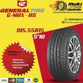Llantas 195.55r15 general gmax rs