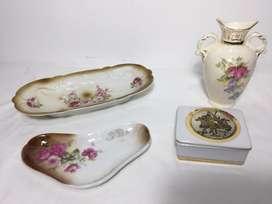 Adornos antiguos en porcelana