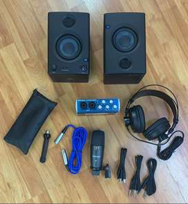 INTERFAZ PRESONUS AUDIOBOX 96 STUDIO ULTIMATE BUNDLE (USB) (KIT + MONITORES) (IF-28)