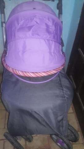 Chango color gris con violeta
