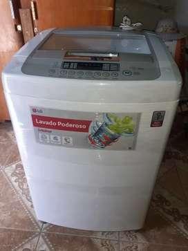 Vendo lavadora lg turbo drum de 16 kilos seminueva