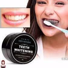 Carbón activo blanqueador dental