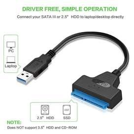 Adaptador SATA a USB 3.0 Lector de disco duro.
