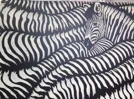 Hermoso cuadro de Zebras