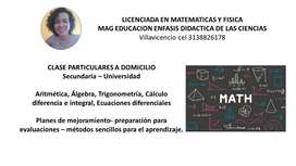 CLASES MATEMATICAS DOMICILIO VILLAVICENCIO
