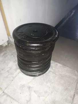 Vendo discos hierro de 10 kg $250 el kg