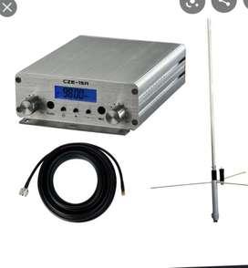 Vendo transmisor para emisora FM de 15 watios